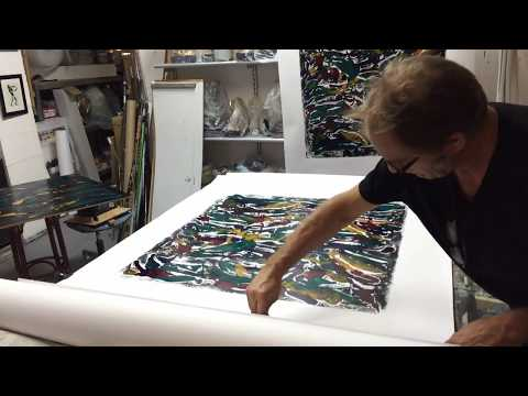 Making of monotype-prints 3