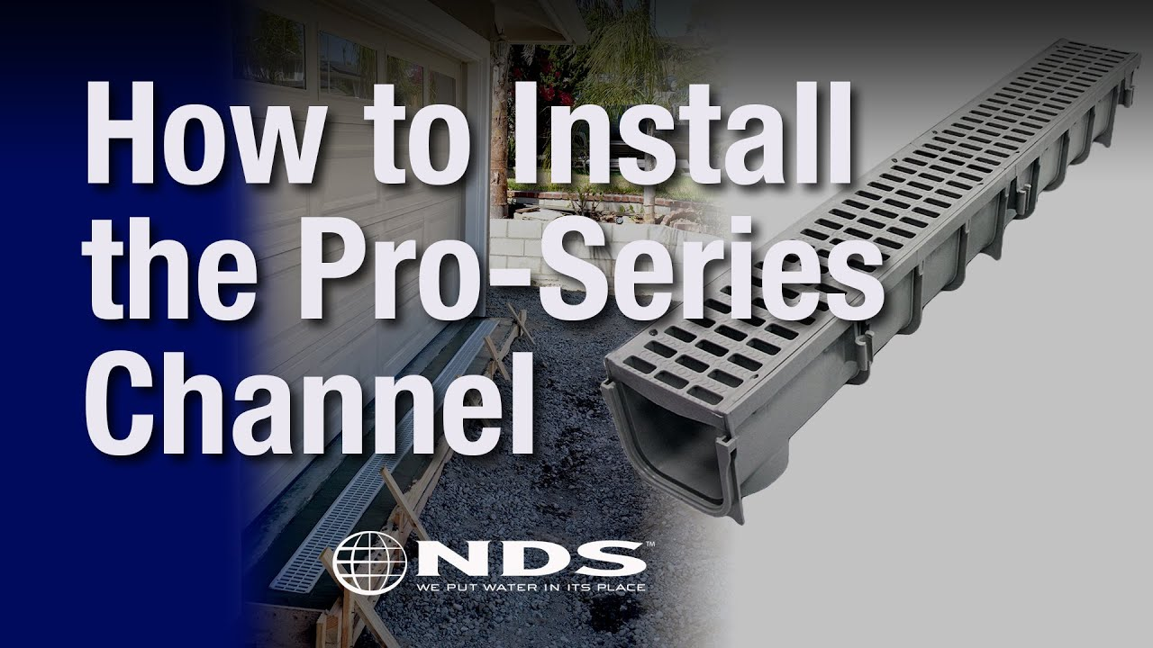 How Do I Install An Nds Pro Series Channel Drain Youtube