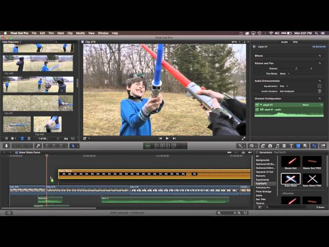 Saber Blade for FCP X, Premiere Pro & AE Tutorial