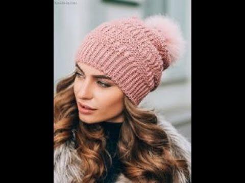вязание модных шапок спицами образцы моделей 2019 Knitting