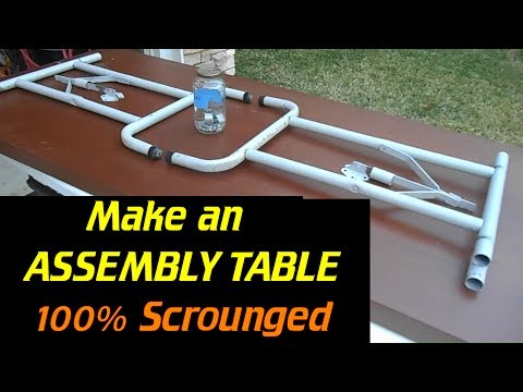 Assembly Table from 100% Scrounged Parts