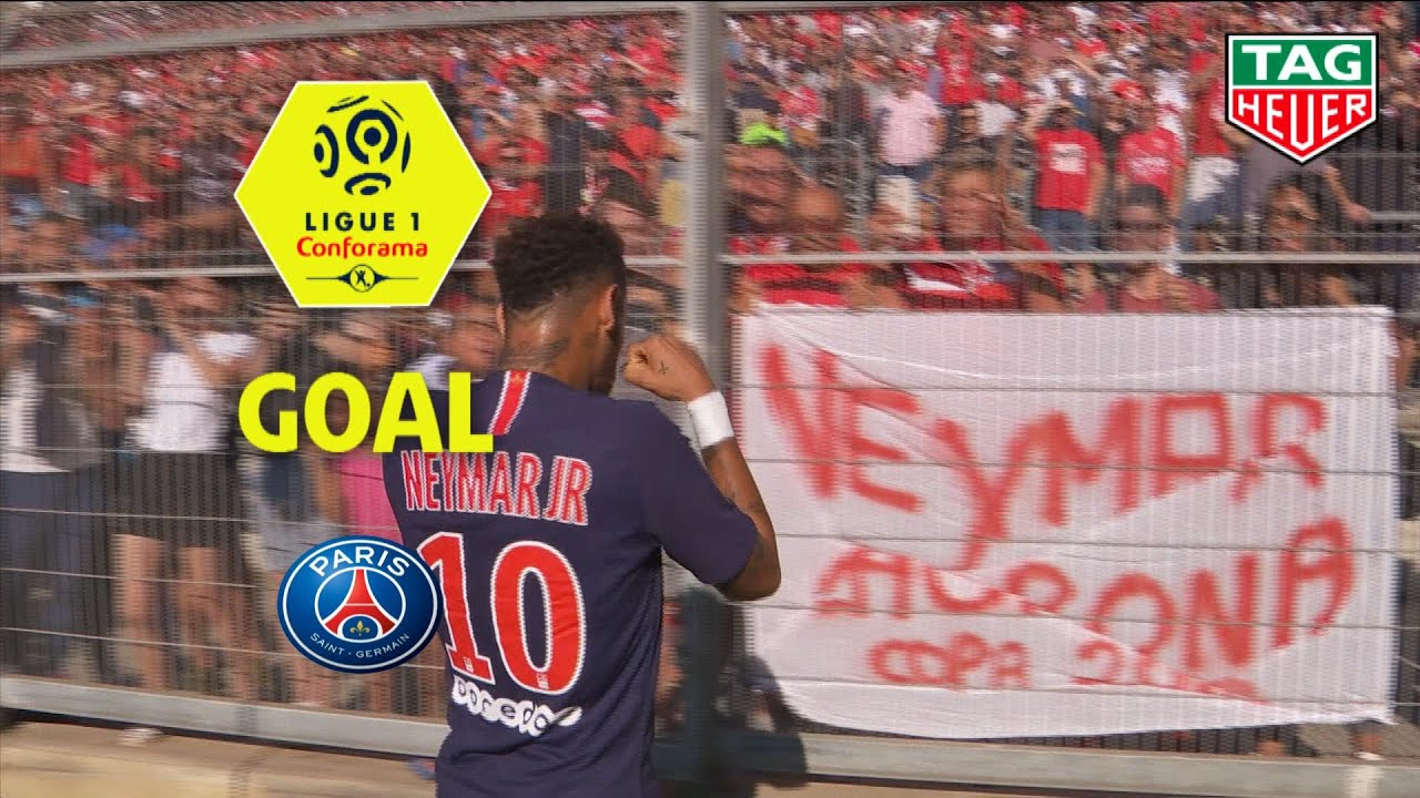 Goal Neymar Jr 36 Nimes Olympique Paris Saint Germain 2 4 Nimes Paris 2018 19 Youtube