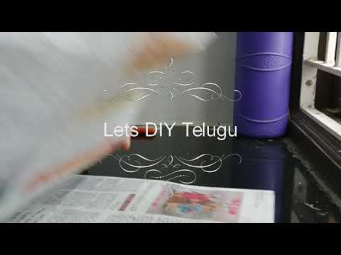 Making dustbin with news paper...!!!