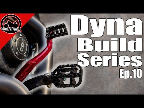 Harley Dyna Build Series Ep. 10 - Pegs, Foot Controls, Powder Coat, Phone Mount