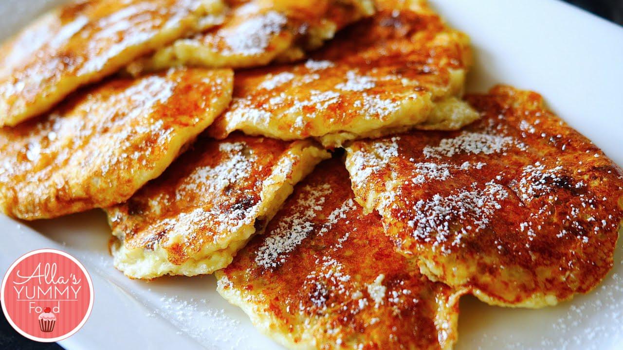 Cottage Cheese Oatmeal Pancakes Recipe (Syrniki)   Сырники с изюмом (без  муки)   YouTube