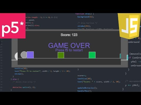 A Game A Day 2 - JavaScript T-Rex Game (Google offline game)!