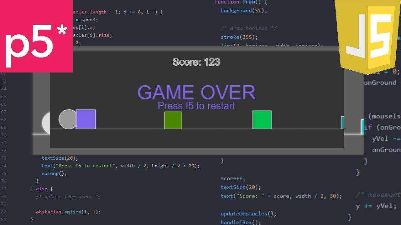 A Game A Day 2 - JavaScript T-Rex Game (Google offline ...