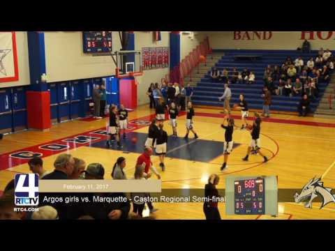 Argos Girls Basketball vs Marquette Catholic - Regional Semifinals