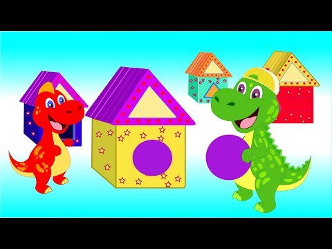 Dinosaur Baby Learn Shapes With Beautiful House Toys | Dinosaurs Cartoons For Kids