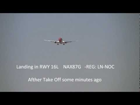 EMERGENCY Landing in Rome Fiumicino B737 Novergian.com *WITH ALL ATC RADIO*  [FULL HD]