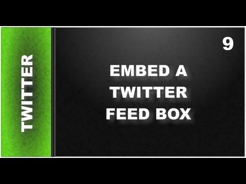 Web Design Tutorials for Xara Web Designer 9 Premium: Embed Twitter Feed Lesson 121