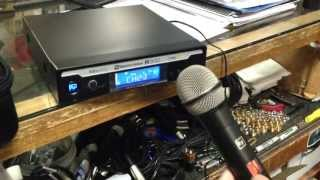 Setting up EZsync feature on Electro Voice R300 Handheld Wireless Microphone