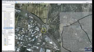 Belfast north Ireland maps out the Little Horn. Illuminati Freemason Symbolism.