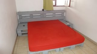 Instructions Of How To  Make A Bed With Pallets