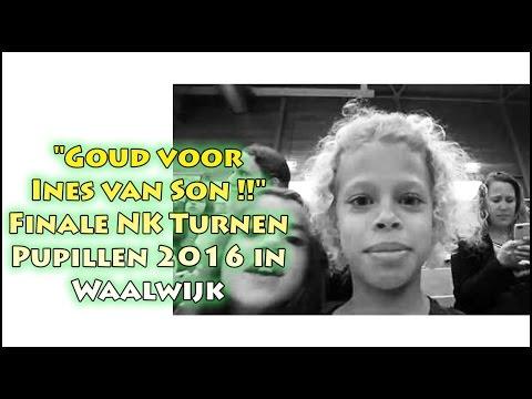 """""""Goud voor Ines van Son !!"""" Finale NK Turnen Pupillen 2016 in Waalwijk"""
