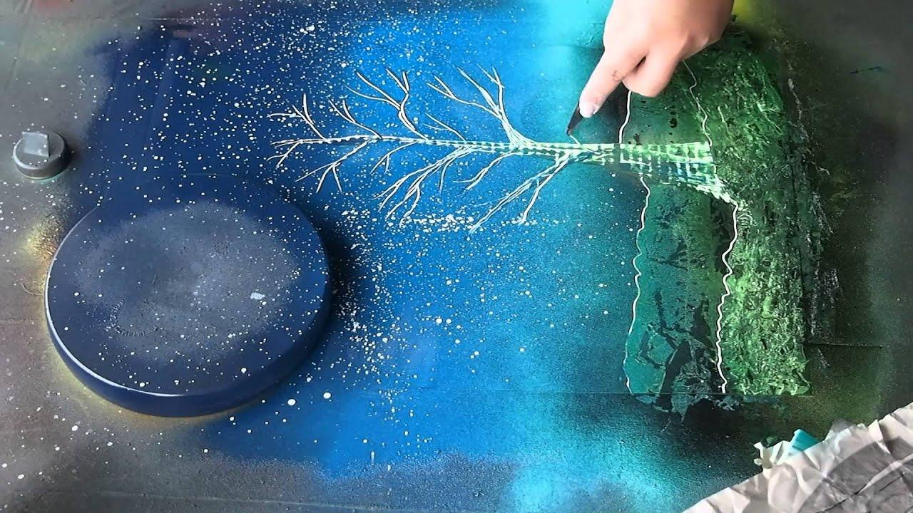 Spray-Paint Art Trees