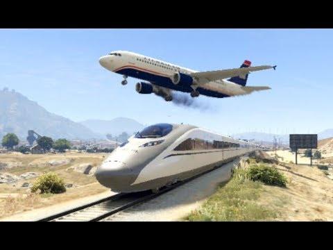 GTA 5- Airplane Worst & Stunning Emergency Landing Ep #5 ✦Epic Compilation