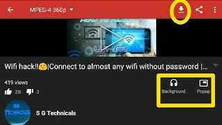 Youtube videos download Play video in pop up Background Audio Free S G Technicals