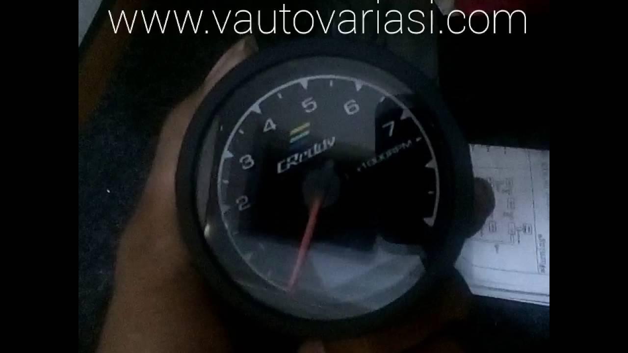 takometer greddy multi d a gauge v auto youtube
