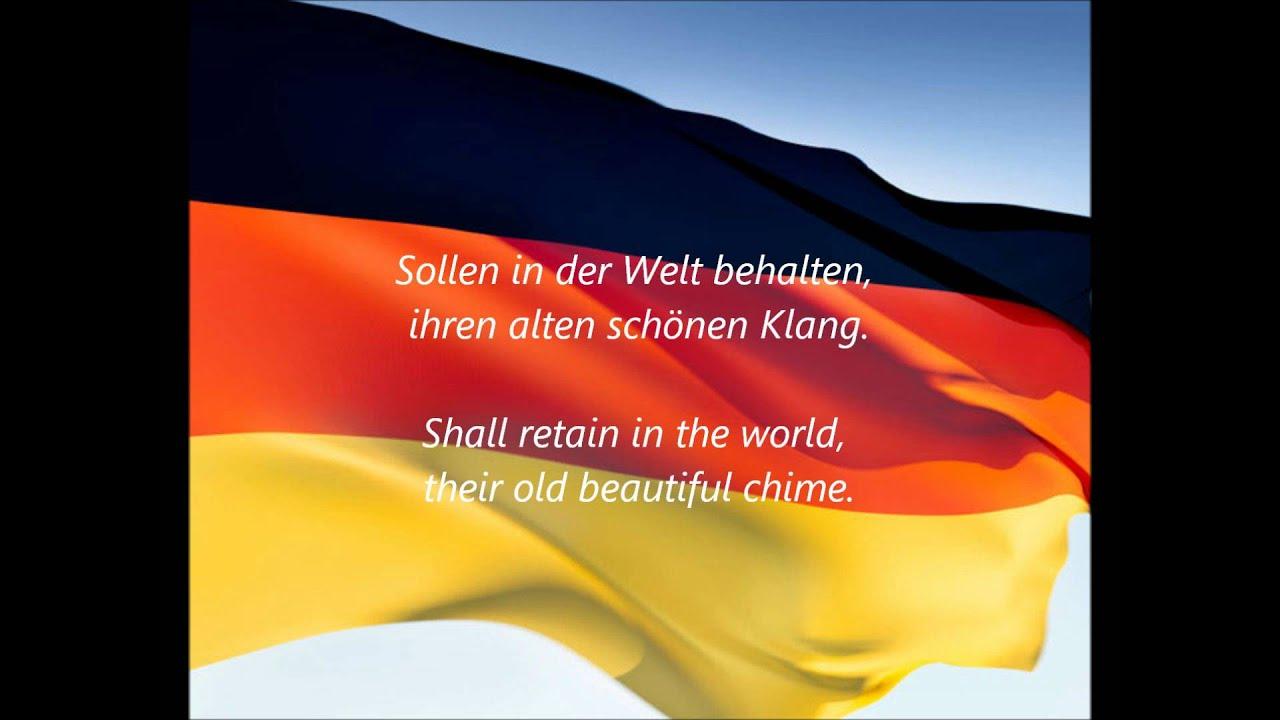 """German National Anthem - """"Das Deutschlandlied"""" (DE/EN ..."""