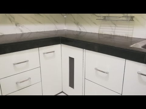 Waterproof kitchen drawers & cabinets / Indian Small middle class ...