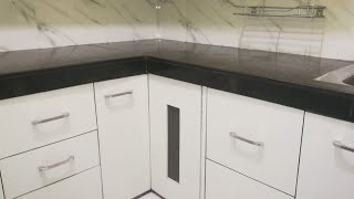 Waterproof kitchen drawers & cabinets / Indian Small middle class kitchen