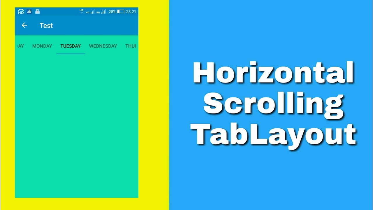 Scrollable TabLayout in Sketchware