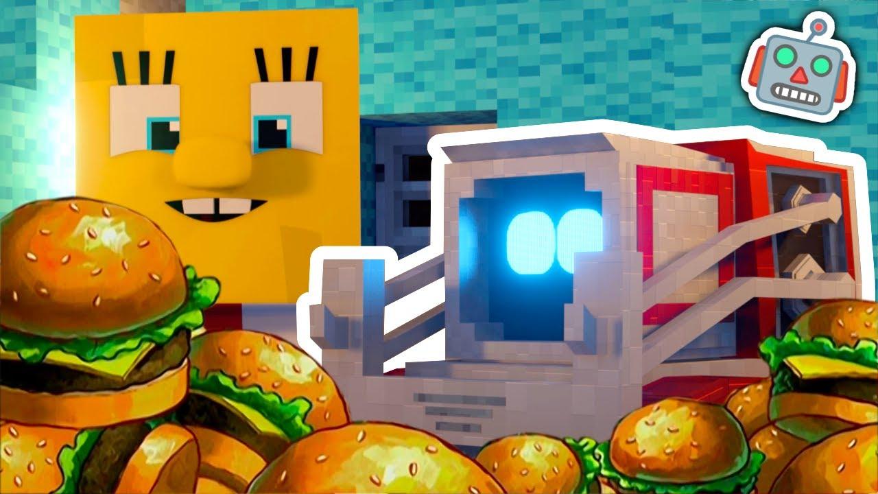 Cozmo Meets SpongeBob (Minecraft Animation)