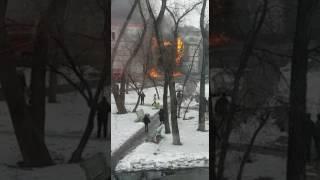В Спасске горит кинотеатр