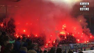 1. FC Magdeburg 1:1 FC Hansa Rostock 05.11.2016 | Pyro & Support