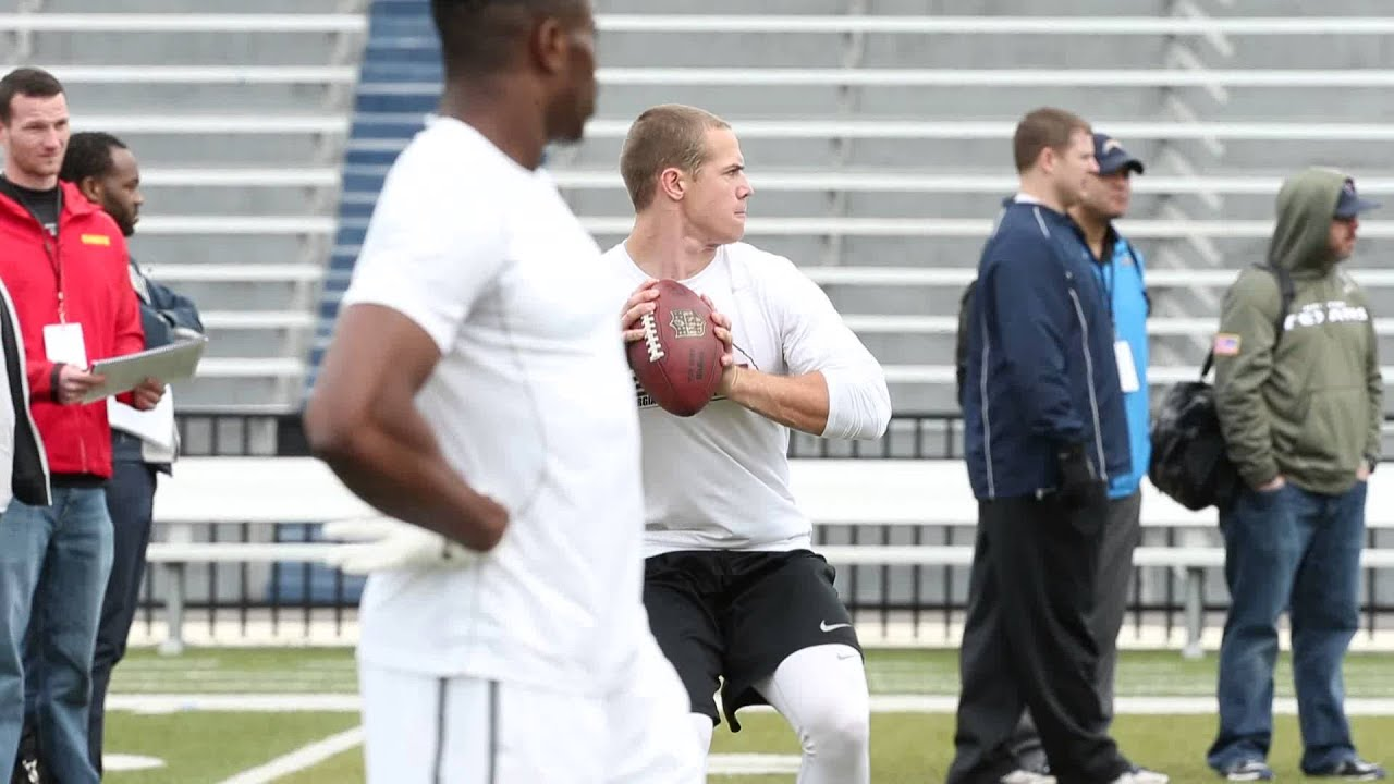 Quarterback Taylor Heinicke Works Out During Odu Pro Day Youtube