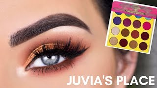Juvia's Place The Masquerade Mini Eyeshadow Palette | Summer Bronze Eye Makeup Tutorial