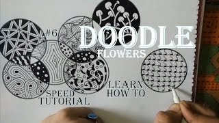 How to draw Complex Doodle Art for beginners, Speed Tutorial Zentangle Drawing #6 step by step