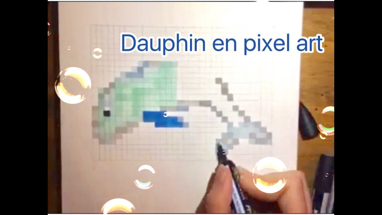 Dauphin En Pixel Art Cute