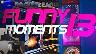 ROCKET LEAGUE FUNNY MOMENTS 13 ???? (FUNNY REACTIONS, FAILS & WINS BY COMMUNITY & PROS!)