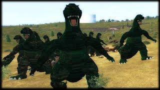 GODZILLA v T-REX?! Planet War Total War Mod Gameplay (Mulitplayer)