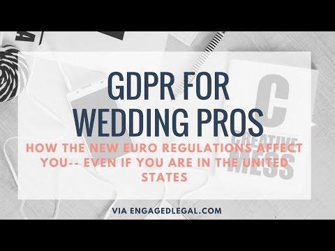 GDPR for Wedding Pros
