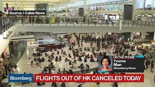 Hong Kong Protesters Shut Down Airport, Tensions Flare
