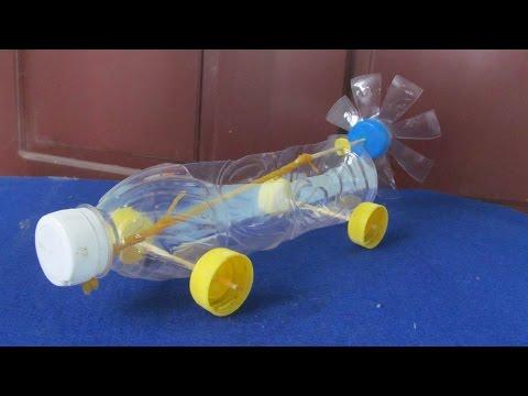 видео: Как сделать резинкой двигателем автомобиля | Повторное пластиковую бутылку