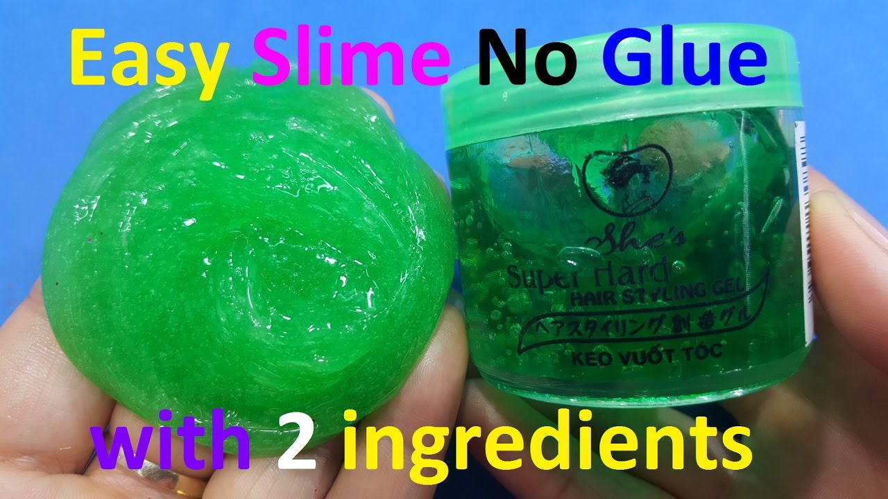 Diy Slime Without Glue Make Slime With Hair Gel Just 2 Things