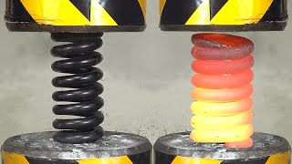 Can a 200-ton pressure crush a giant spring?