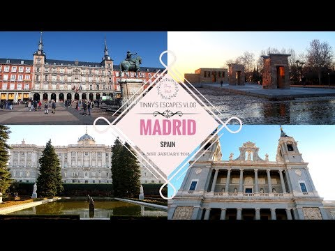 Plaza Mayor, The Royal Palace & Temple of Debod | Day 3 | Madrid SPAIN || Tinny's ESCAPES Vlog