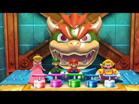 Mario Party: The Top 100 Minigames - Peach Vs Mario Vs Luigi Vs Wario