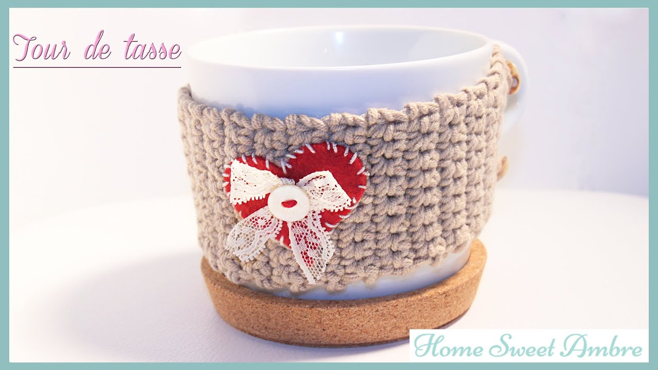 Bien connu DIY Tour de tasse en crochet - YouTube WU01