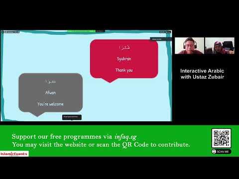Day 4 Interactive Arabic Workshop with Ustaz Zubair