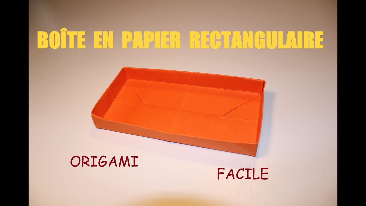 Comment faire une bo te en papier rectangulaire origami - Video d origami facile ...