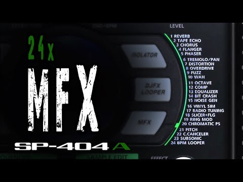 Roland SP-404A: ALL 24 MFX on DRUMS [Demo | Quick Tutorial]