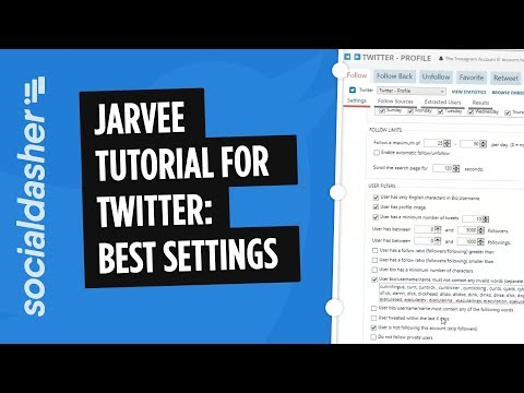 Jarvee Twitter Tutorial: Best Settings & Walkthrough - YouTube