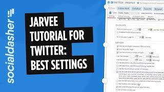 Jarvee Twitter Tutorial: Best Settings & Walkthrough