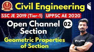 10:00 PM - SSC JE 2019 (Tier-I)   Civil Engg by Sandeep Sir   Open Channel Section